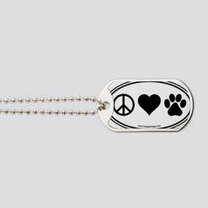 Peace Love Paws Black Dog Tags